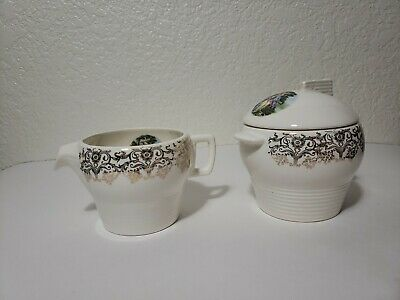 Limoges American Triumph D'OR Sugar bowl and Creamer Vintage China *Mid Century*