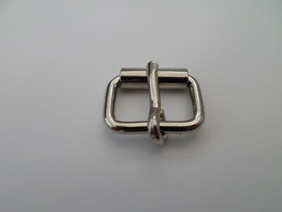 3/4  20mm wire single roller buckle nickel x 100