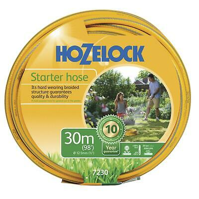 Hozelock 30m Starter Garden Hose Pipe Maxi Plus Hard Wearing Weatherproof 12.5mm
