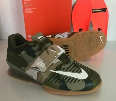 e7ee277d8559a NEW NIKE ROMALEOS 3 SIZE US 4.5 WEIGHTLIFTING SHOES 852933-300 Camo Canvas/ Sail