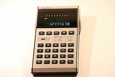 Rare Vintage Kings Point SMP-200 Calculator Made In Hong Kong 1975 Green LED