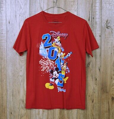 Childs Retro Disney T Shirt Size Xl Red Mickey Mouse 2015 Florida Short Sleeve