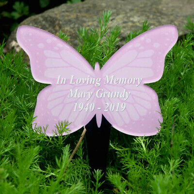 Butterfly Grave Marker Tree Marker Cremation Girl Birthday Memorial Plaque