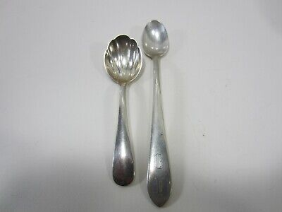 2 Antique S.Kirk & Son Sterling Silver Nut? Spoon & Other Spoon