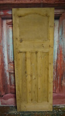 AT02 (27 x 75 1/2) 1930s / edwardian old arched topped stripped solid pine door