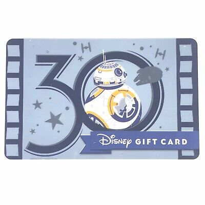 Disney Hollywood Studios 30th Anniversary 2019 BB-8 Disney Collectible Gift Card