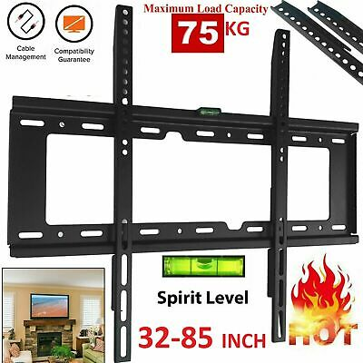 New 2 Tier Black Glass Floating Wall Mount Shelf DVD Player Sky Box Game Console