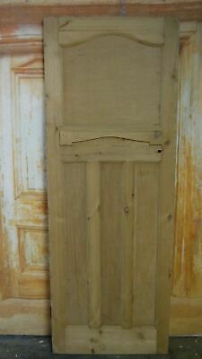 AT02c (27 1/2 x 75 1/4) 1930's / Edwardian Old Arched Topped Solid Pine Door