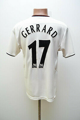 Liverpool England 2003/2004/2005 Away Football Shirt Jersey Reebok Gerrard #17
