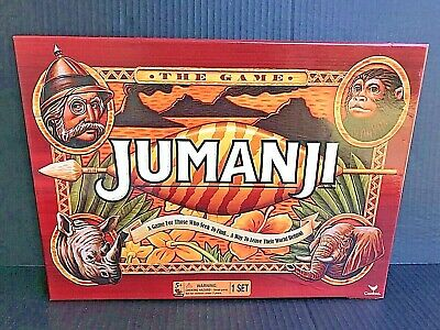 Jumanji The Game Action Board Game by Cardinal Games All Pieces Accounted For