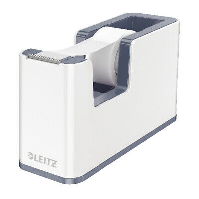 Leitz WOW Tape Dispenser White/Grey 53641001