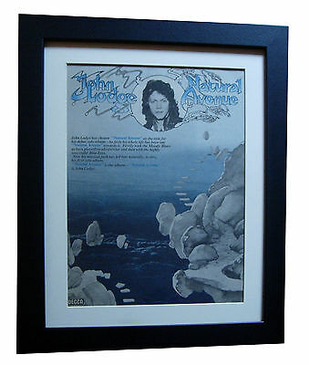 JOHN LODGE+Avenue+BLUE JAYS+POSTER+AD+FRAMED+RARE ORIGINAL 1977+FAST GLOBAL SHIP