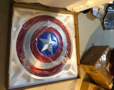 New Captain America Shield The Avengers Metall Weapon Replica Prop 1:1 Aluminum