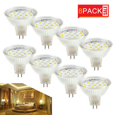 8x MR16 DC12V 4W LED Bulbs  Spotlight SMD Lamps Halogen Bulb Replacement A++ UK