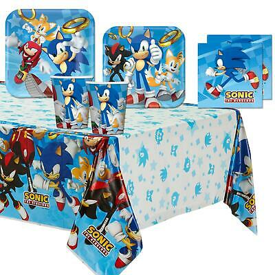 Sonic the Hedgehog Tableware Birthday Party Set Kids Game Movie Amy Tails Shadow