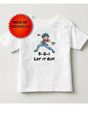 Beyblade 321 let it rip Valt Vault tshirt shirt Toddler and boys 2t 3t 4t 5t s m