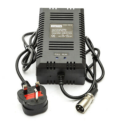 Electric E Scooter Battery Charger Lead Acid 36 Volt 36v 1.6 Amp Male UK Plug