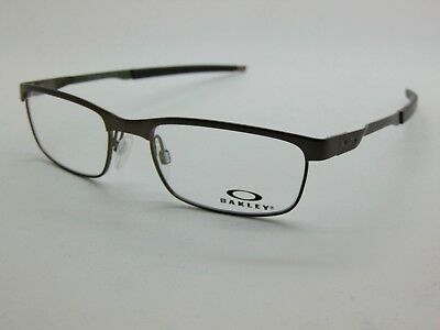 1b506a1f148f NEW Authentic OAKLEY STEEL PLATE OX3222-0552 Pewter 52mm Rx Eyeglasses