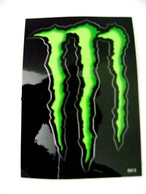 "MONSTER ENERGY GREEN M-CLAW DECAL STICKERS 4"" x 2.75"" BRAND NEW"