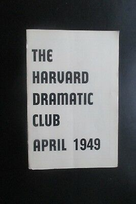 1949  The Harvard Dramatic Club The Man Who Came To Dinner Programme