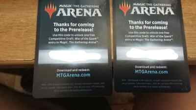 MTG ARENA PROMO code War of the spark Prerelease Competitive Draft