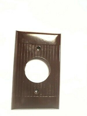 Vintage Art Deco Ribbed Bakelite Sierra Mono Toggle Cover Plates brown