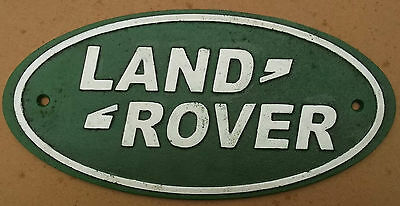 Heavy Cast Large Metal Sign `LAND ROVER`  a Lovely Present series 1 2 2a