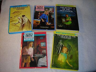A Group of 5 Nancy Drew and Hardy Boys Mystery Books