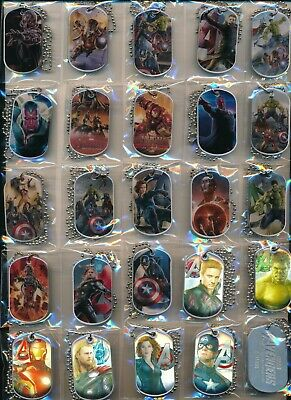 Marvel Avengers Age Of Ultron Dog Tags Set Of ((24))