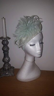 Mint Green Fascinator for weddings/ races special occasions