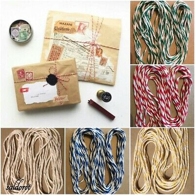 Beautiful Food Safe Certified  2mm-2 PLY Butchers / Bakers String Cord 5 Colours