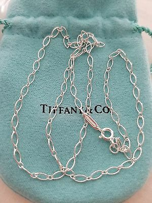 "New! Tiffany & Co. Oval Link Chain Necklace 24"" Inches AG  .925 Sterling Silver"