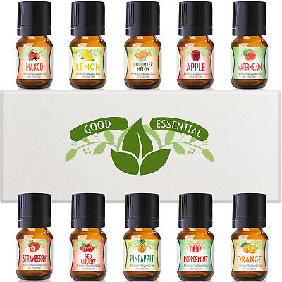 Fruity Fruits Good Essential Fragrance Oil Set - Strawberry, Apple, Peppermint