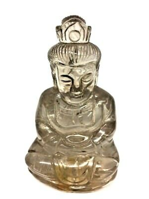 RARE Chinese Crystal Rock Finely Carved Guanyin Kwan Yin