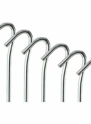 50 X Tent Pegs Steel Metal Heavy Duty Ground Camping Gazebo Tarpaulin Hooks