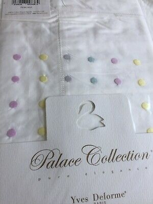 Yves Delorme MYRIADE POINTILLE Pair of EURO Pillowcases PALACE COLLECTION