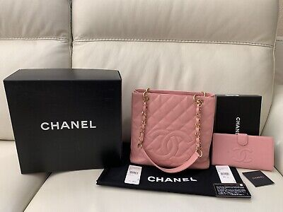 3809cfe455df AUTHENTIC CHANEL PETITE shopping tote and Matching wallet ...