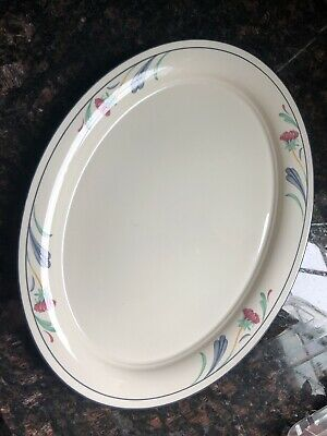 "Poppies on Blue by Lenox - Oval Platter  14 1/4"" Long"