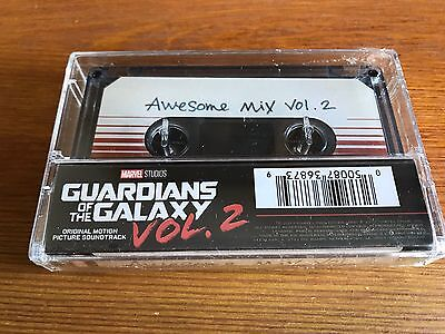 Marvel Guardians Of The Galaxy Vol. 2 Soundtrack Cassette Awesome Mix Vol 2