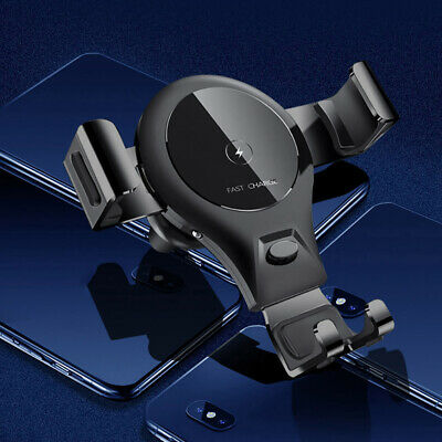 Fast Qi Wireless Car Charger Dock Pad Stand Bracket For iPhone 8 X 8Plus XS XR