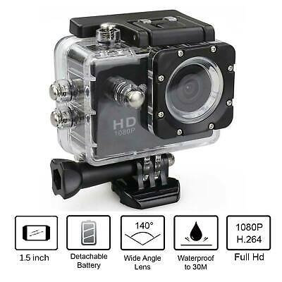 1080P Waterproof Action Sports Camera Video DVR HD Cam Accessories Included