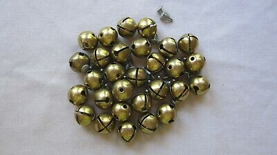 "Lot of 29 Pre-Owned 1"" Vintage Brass Jingle Bells GC"