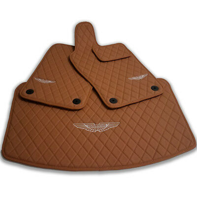 Aston Martin Db11 Diamond Eco Leather Floor Mats 2017 2018 2019