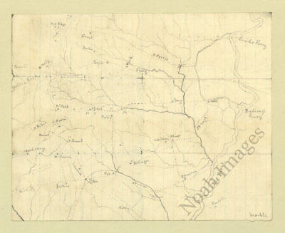 Map of the Big Black River MS c1863 repro 14x12