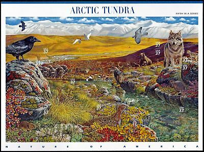 2003 ARCTIC TUNDRA Nature of America Series 5th, MNH Sheet 10 x 37¢ Stamps #3802