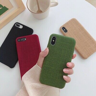 Fabric Warm cloth Thin Case Shockproof Cover for iPhone 6 7 8 Plus X XR XS Max