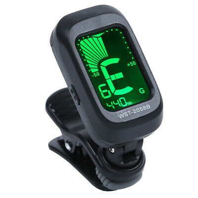 Clip-on LCD Acoustic Electric Guitar Violin Ukulele Chromatic Tuner Corrector Am
