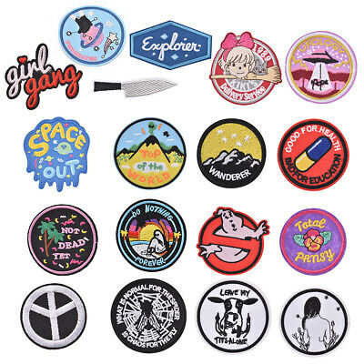 iron-on patch embroidery appliques badge for decorate clothing bags applique  iw