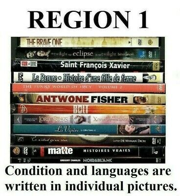 100% DVD SELECTION All Sold Separately - All REGION 1 (CANADA-USA)