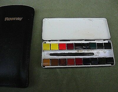 Daler Rowney Artists Water-Colour Bijou Metal Box Leather Case Collectors Item
